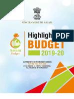 Budget Highlights 2019 20