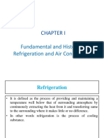 CHAPTER 1 - Fundamental and History of Refrigeration and Air Conditioning