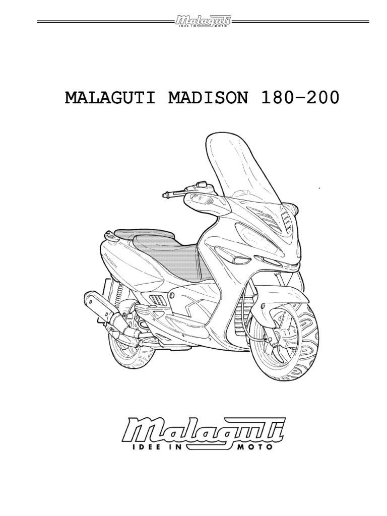 Malaguti Madison 180_200 Service Manual
