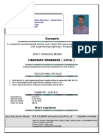Pankaj Singh Highway Engineer Resume
