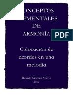 Conceptos Elementales de Armonia Colocacion de Acordes en Una Melodia