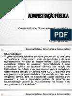 Governabilidada e Governança Parte 1