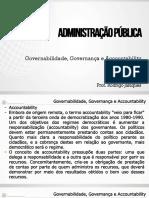 Governabilidada e Governança Parte 2