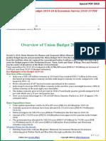 Union Budget 2019-20 and Economic Survey 2018-19 PDF by AffairsCloud
