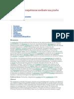 Evaluación de Competencias Mediante Una Prueba Escrita