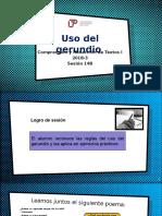 14B-100000N01I El Gerundio (Diapositivas) 2018-3
