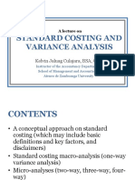 LEC 5 Standard Costing and Variance Analysis