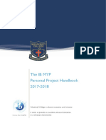 Personal Project Handbook 2017-2018