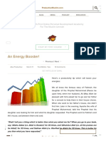 An Energy Booster! - ProductiveMuslim