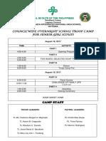 1. Gsp Matrix of Activities