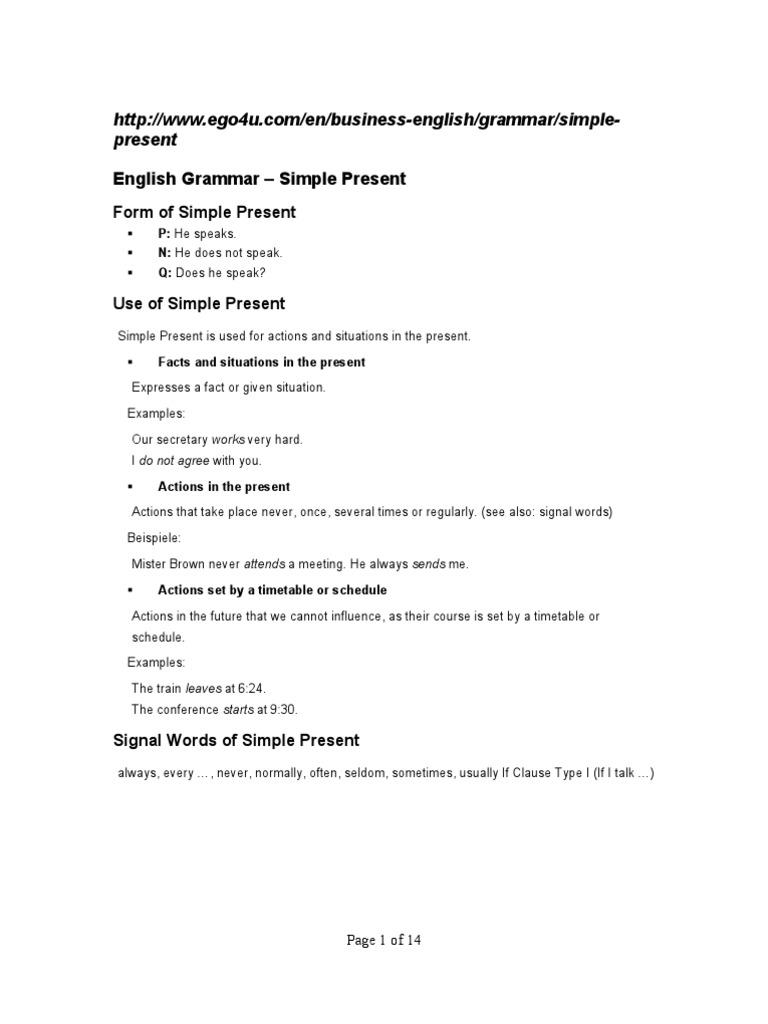 English Grammar   Perfect (Grammar)   Grammatical Number