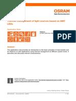 Thermal Management of Light Sources Based on SMT LEDs