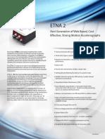 ETNA 2 Especificaciones Técnicas
