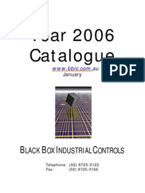 Black Box Industrial Controls Catalogue 2005 | Reliability ... on