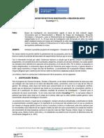 Proyectos de Investigacion Colciencias Agos7