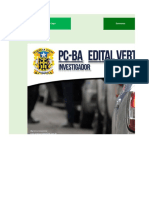Edital Verticalizado Horario de Estudo - PC BA - Investigador