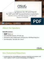 Reporting Options for HR and Payroll for SAP and SAP SuccessFactors Customers