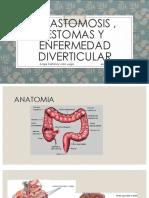 Anastomosis estomas y enfermedad diverticular
