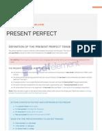Present Perfect Tense PDF