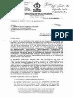 Oficio de la Procuraduría Provincial a la Secretaria de Educación del Distrito