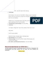 FCPS preparation