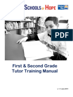 First and Second Grade Tutor Training Manual
