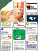Leaflet memandikan bayi