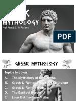 MYTHOLOGY Lecture 2 - Greek Mythology and Gods