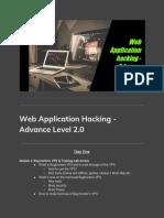 Agenda of Web Application Hacking Advance Level 2.0 1