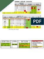 Calendar Şcolar 2018-2019