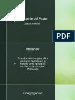 Lectura antifonal Adventista para Presentación de pastor