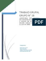 TRABAJO GRUPAL N° 18 AUDITORIA DEL SGSST Y LA LEY 29783