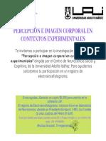 Invitación a la Investigación Percepción e Imagen Corporal en Contextos Experimentales de Investigación (CSCN)-1