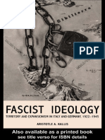 Kallis, Aristotle - Fascist Ideology. Territory and Expansionism in Italy and Germany, 1922-1945 [2001]