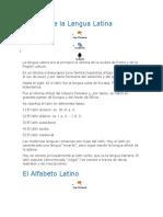 Historia de La Lengua Latina
