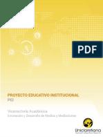 Proyecto Educativo Institucional PEI2018 UNICLARETIANA