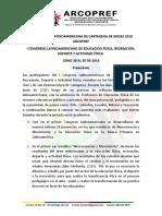 Declaración Latinoamericana de Cartagena 2019 Arcopref