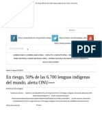 En Riesgo, 50% de Las 6.700 Lenguas Indígenas Del Mundo, Alerta ONU