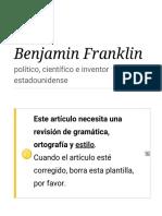 Benjamin Franklin Citas