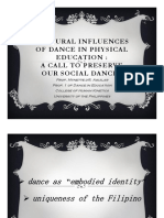 Cultural Influences of Dance in Physical