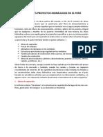 Principales Proyectos Hidráulicos en El Perú