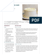 White Wedding Cake - Recipe Girl