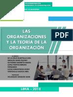 Las Organizaciones y La Teoría de La Organización