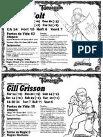 Fichas de Tormenta RPG (6º Nivel)