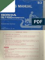 GL1100 owner manual