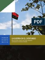 Human Rights Watch La Guerra en El Catatumbo ELN y EPL