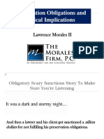 Preservation Obligations and Ethical Implications - Morales II