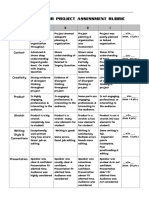Rubrics and Forms