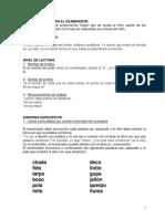 Instrucciones Para Test Dislexia