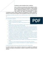 NIA 570 - Procedimientos de Auditoría Adicionales Cuando Se Identifican Hechos o Condiciones